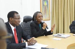 The Minister giving her speech